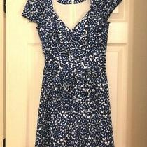 0 Anthropologie Leifnotes Blue Floral Romper Small Anthro Lined Xs Photo