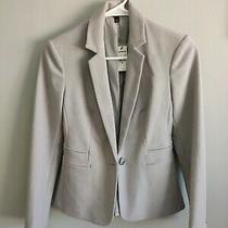 00  Express Women's Grey Soft Knit Long Sleeve Blazer  Photo