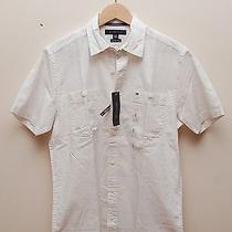 00151 Nwt Tommy Hilfiger Paint Men Shirt Size S 49.50 Photo