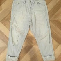 00s Genuine Vintage Jeans Cargo Relaxed Fit Harem Trouser Cropped 8 Xs W27 Blue Photo