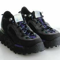 01-01 Msrp 670 Women's Size 37eu Acne Studios Berton Suede Platform Sneakers Photo