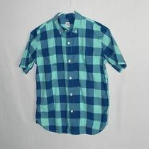 0188  Gap Kids Boy Blue  Plaid Shirt Photo