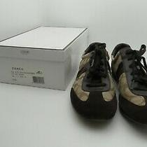 041- Coach Joss Sneaker Brown & Beige Sneaker/tennis Shoe Size 11m Photo