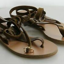 05-31 Msrp 240 Women's Size 40 Eu Ancient Greek Sandals Estia Bronze Sandals Photo