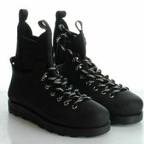 05-42 New 90 Women's Size 8 Jeffrey Campbell Barometric Lace-Up Boots in Black Photo