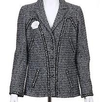 06a Chanel Gray Sequin Work of Art Fantasy Jacket Fr-44 Photo