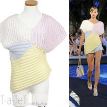 09c Chanel Pink Blue Yellow White Sweater Top Fr-40/42 Photo