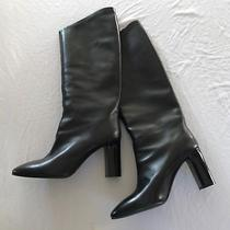 1000 Acne Black Leather Aly v Knee High Boots (Sold Out Everywhere)  37 Photo