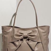 1095 Valentino 'Betty Lacca Bow - Small' Blush Lacquered Canvas Tote Bag Purse Photo