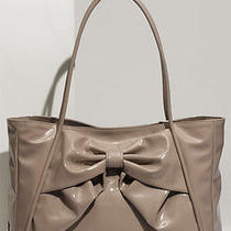 1095 Valentino 'Betty Lacca Bow - Small' Blush Lacquered Canvas Tote Bag Purse Photo