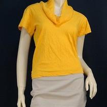 1175 Lanvin Orange Jersey Contrast Silk Top - Small Photo