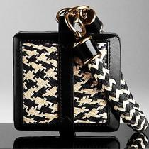 1195 Burberry Prorsum Women Straw Wristlet Clutch Purse Hand Bag Leather New A Photo