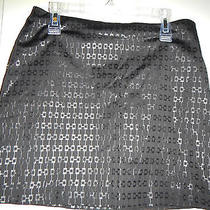1/2 Size 1 or 2 Express Black Mini a-Line Skirt Cotton Polyester & Rayon Photo