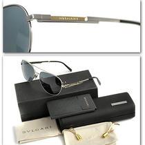 1200 Bvlgari Men's Gold Plated Polarized Aviator Sunglasses W/ Certificate Photo