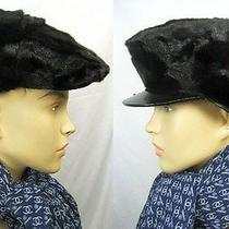 1295 Runway Burberry Prorsum Mink Fur Calf Leather M Cap Hat Men Women Gift Photo