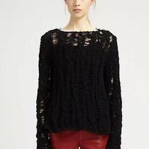 1295 Saint Laurent Ivory Soft Wool Cashmere Open Weave Sweater Blouse Sz S Photo