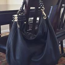 1495 Jimmy Choo Sky Nappa Leather Braided Bracelet Hobo. Excellent Condition Photo