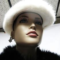 1695 Burberry Prorsum Mink Fur Calf Leather M Cap Hat Men Women Lady Gift New Photo