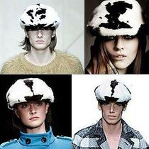 1695 Burberry Prorsum Mink Fur Calf Leather S Flat Cap Hat Men Women Cool Gift Photo