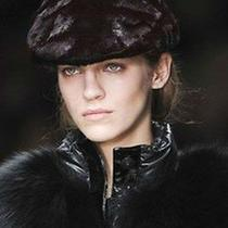 1695 Runway Burberry Prorsum Black Mink Fur Calf Leather M Cap Hat Men Women Photo