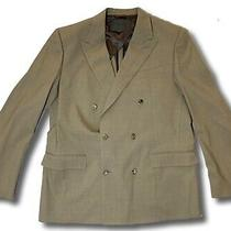 1800 Bally Double Breasted Tan Wool Blazer Size Us 40 Eu 50 Made in Italy Photo