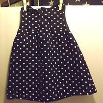 1 9 Months carter.s Navy With White Dots Red Buttons Children's Dress Nice  Photo