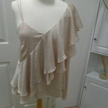 1 Blush Pink Silky Feel One Sleeve Top Frill Detail Next Size 12 Photo