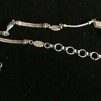 1-Brighton Silver Tone Chain Belt W/double Chain & Triangle Links Fits 28