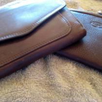 1-Fossil Credit Card Holder &1 Pocket Size Tri Fold Wallet Dark Brown (2) Photo