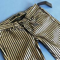 1  Karl Lagerfeld Woman's  Skinny Stripes Unique Shine Most Rare Jeans 26/30 Photo