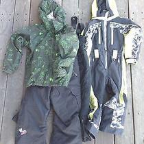 (1) Lot of Youth Snow Gear Jacket Snow Pants Snow Suite Burton Obermyer Giro Photo