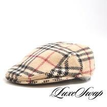 1 Menswear Burberry London Made England Tartan Super Nova Tweed Flat Cap Hat L Photo