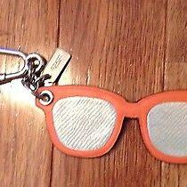 1 - Nwt Coach Leather Sunglasses Keychain Keyfob Photo