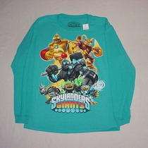 1) Nwt Skylanders Giants Long Sleeve Tee T-Shirt Boys Size Xl Turquoise Heather Photo
