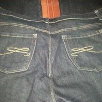 (1) Nyc Style & Co Women Dark Blue Jeans Macy's Straight Leg Size 18w Fast Ship Photo
