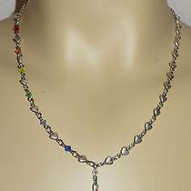 1-of-a-Kind Silver Colourful Treble Cleft Pendant Heart Swarovski Music Necklace Photo