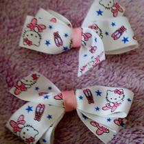 1 Pair Children's Hair Bows Hello Kitty Photo