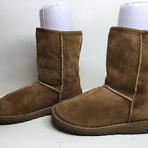 1 Womens Aldo Winter Suede Light Brown Boots Size 38 Photo