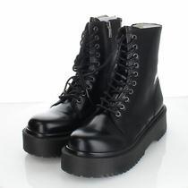 10-64 New 130 Women's Sz 8 M Jeffrey Campbell Sopas Leather Lug Platform Boot Photo