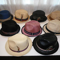 10 Hats - Christys Crown Series Deluxe Straw Fedora Hat Lot Size Small / Medium Photo
