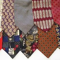 10 High End Men's Silk Designer Ties Zegna Dior Givenchy Valentino Jhane Barnes Photo