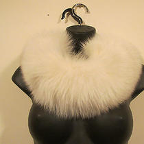 100% Adrienne Landau Fox Fur Head Band or Neck Scarf Velvet Lined One Size  Photo