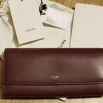 100%Auth Absolutely Luxurious Celine Lambskin Wallet in Chic Colour 395  Photo
