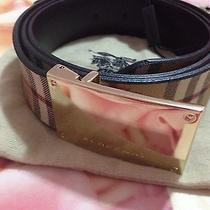 100% Auth  Burberry Belt   295  Size 28/70 Photo