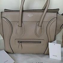 100% Auth Celine Dune Micro Luggage Drummed Leather Tote Bag. Retail 2900 Photo