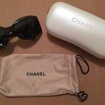 100% Auth Chanel 5084-H Sunglasses Mother of Pearl Logo Never Worn Case/cloth Photo