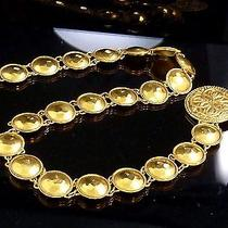 100% Auth Chanel Chain Belt Medal Motif Gold Plate 420 Photo