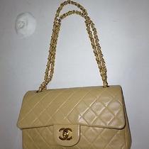100% Auth Coco Light Tan Chanel Lambskin Leather Flap Shoulder Bag Purse (23 Cm) Photo