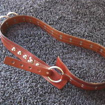 100%Auth Dsquared 2 Brown Big Rings Metal Pins Runway Show Belt 2003 L  Photo