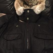 100%Auth Dsquared Bomber Jacket Fur Hood Photo